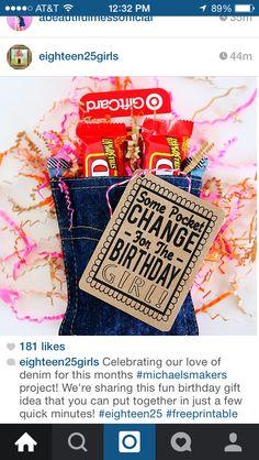 Cute birthday gift presentation