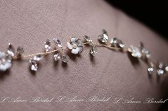 Long Rustic Flower Wedding Hair vine Bridal Hair Vine