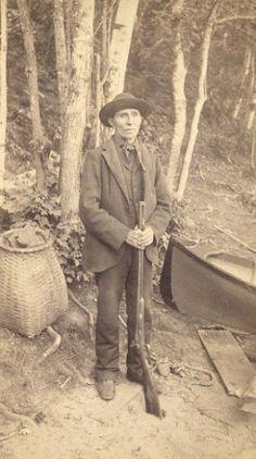 Mitchell Sabattis (the son of Captain Peter Sabattis) - Abenaki - 1885.  Famous Adirondack guide. main lake