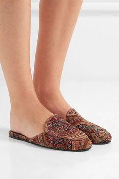 4e456e81b9920 NewbarK - Liza paisley-print corduroy slippers