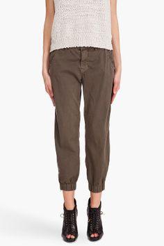J Brand Earhart Flight Pants in Vintage Pendleton (army green)