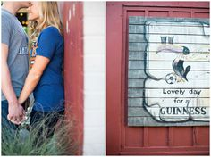 classy engagement pictures downtown, ivy walls in engagement, blue door and ivy, how to pose your couple for downtown engagement pictures, downtown posing with ivy walls, engagement with brewery, engagement pictures at a lake, engagement at a lake with your dog, how to bring your dog to your engagement session, Lacey Rene Studios | Love Like Ivy Grows | Doug + Katie Engagement Session in Lawrence, Kansas