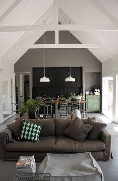 open plan, open ceiling