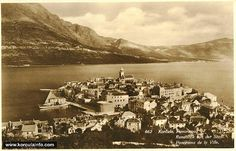 Korcula Panorama from Novi Puti in Montenegro, Slovenia, The Places Youll Go, Old Town, 1920s, Random Things, Paris Skyline, Channel, Island