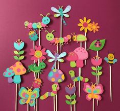 Bugs cupcake topper bugs party bugs theme bugs and flowers image 0 Kids Birthday Cupcakes, Bug Cupcakes, Fondant Cupcakes, Preschool Crafts, Easter Crafts, Ben E Holly, Bug Cake, Happy Birthday Signs, Mothers Day Crafts For Kids