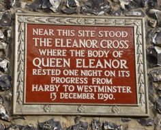 Eleanor Cross plaque, St Albans Queen Eleanor, London History, St Albans, Mother Goose, Still Standing, English Countryside, Beautiful Places To Visit, Family History, Crosses