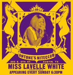 #FOEAUSTIN Miss Lavelle White at Antone's- Guest Alan Haynes - http://fullofevents.com/austin/event/miss-lavelle-white-at-antones-guest-alan-haynes/