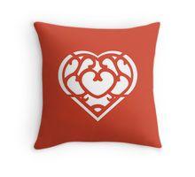 Zelda Skyward Sword Heart (white) Throw Pillow