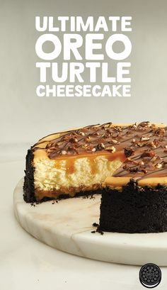 OREO crust, caramel drizzle and cheesy cheesecake. What else is there to ask for? Try this Ultimate OREO Turtle Cheesecake for an after dinner treat!