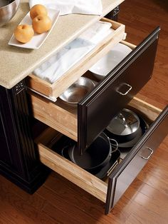 Split Kitchen Drawer Large Front Mounted On Lower Drawer Hidden Upper Drawer For Balanced Appearance But More Flexible Function