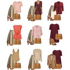 9 Outfits - Marsala Inspired Capsule Wardrobe