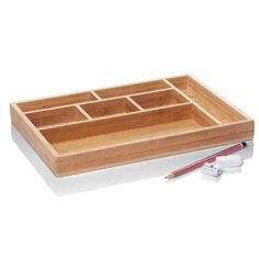 Bamboo Storage Tray  $19.95  A great storage solution for any drawer or surface