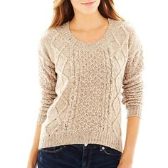 Arizona Cable Knit Sweater - jcpenney yo I'm actually wearing this right now it's so comfortable