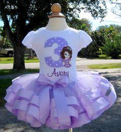 Princess Sofia The First Double Ribbon Party Tutu Set..Mia's 2nd Birthday???