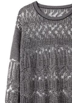 Alexander Wang Burnout Fair Isle Sweater