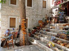 The Greek Islands: Naxos Zorba The Greek, Crete Greece, Greek Islands, Sailing, Places To Visit, Street View, Travel, Landscapes, Stairs