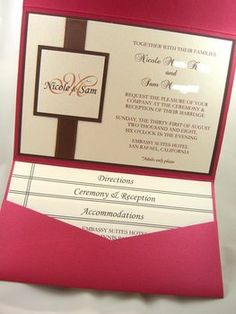 DIY Pocket Fold Invitations