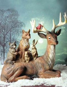 WOODLAND COMPANIONS FIGURINE - Rustic Deer Figurines