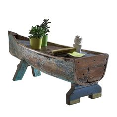 Couchtisch Boat - Recyclingholz massiv