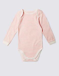 Pink Stripe Long Sleeve Bodysuit (3-8 Years)