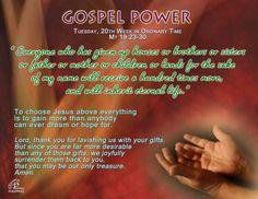 Gospel Power – Tuesday 20th Week