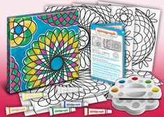 Paint your own Spirograph wall art! #spirograph