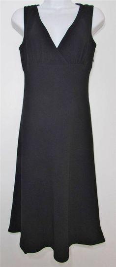 Banana Republic Black Sleeveless Evening Dress  Knee Length sz 0 EUC #BananaRepublic #Sheath #Cocktail