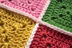 FIFIA CROCHETA blog de crochê : como unir quadradinhos de croché passo a passo