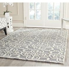 $296 Safavieh Cambridge SILVER / IVORY Wool Area Rug 6' x 9' - CAM133D-6