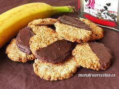Oat, banana and coconut perfect combination Sweet Recipes, Real Food Recipes, Cookie Recipes, Yummy Food, Gluten Free Cookies, Healthy Sweets, Sans Gluten, Cupcakes, Light Recipes