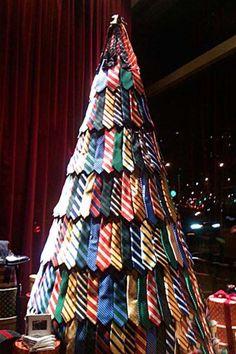 christmas tree made of ties