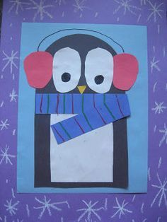 """Sweet penguin project. Add a writing element such as """"Would you rather be a penguin or a bird that can fly?"""""""