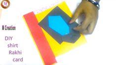 rakhi greeting card/shirt rakhi greeting card making Rakhi Greetings, Rakhi Cards, Rakhi Making, Make Photo, Cards Diy, Diy Shirt, Paper Quilling, Card Making, Greeting Cards