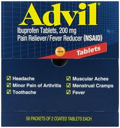 Amazon.com: Advil Tablets Pain Reliever Refill,200 mg, 50 Two-Packs per Box: Health & Personal Care