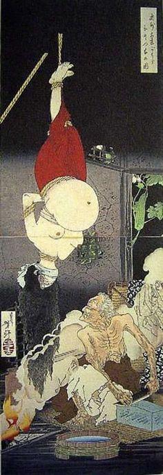 (Image of Ukiyo-e nurses and Tsukioka Yoshitoshi end of the Edo period) figure of one house Oshu Adachi belly