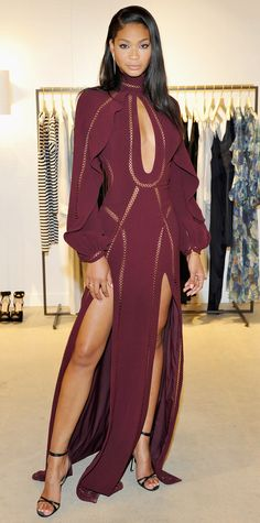 Chanel Iman in a Zimmermann dress.