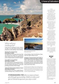 From Cornwall Life magazine, page 127 For more details go to http://www.southwestcoastpath.org.uk/events/challenge/