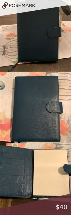 Pebble-Black Pen Loop and Card Slots with Back Pocket Moterm Leather Cover for Hobonichi Weeks