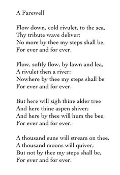 A Farewell - Alfred Lord Tennyson