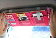 Shipping Sun Visor Point Pocket Multifunctional Storage Bag Car Accessories Auto Organizer with 3 Colors on . Cute Car Accessories, Vehicle Accessories, Car Interior Accessories, Camping Accessories, Girly Car, Car Essentials, Tips And Tricks, Car Goals, Car Storage