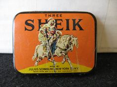 Vintage Collectible Sheik Prophylactic Condom Tin Great Graphics $33 etsy
