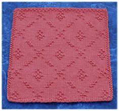 Ravelry: Vintage Kitchen Florals Dishcloth pattern by Rachel van Schie Knitted Washcloth Patterns, Knitted Washcloths, Dishcloth Knitting Patterns, Crochet Dishcloths, Knit Or Crochet, Loom Knitting, Knitting Stitches, Knit Patterns, Free Knitting