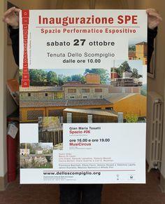 Manifesto Inaugurazione SPE (Spazio Performatico ed Espositivo), Dello Scompiglio  _Meschiassociati