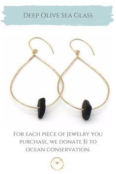 Genuine sea glass and gold earrings, handmade with love. Sea Glass Jewelry, Glass Earrings, Gold Earrings, Jewelry Shop, Jewelry Making, Dainty Gold Jewelry, 14 Karat Gold, Earrings Handmade, Women Jewelry