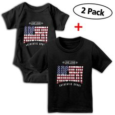 2e8ae4cd6b5 I Love Archery USA 2Pcs Newborn Baby Girl Boy Romper Jumpsuit Bodysuit and  Baby TShirt