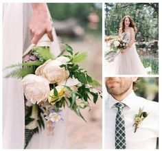 White rununculas among ferns and darker details for a rustic fall wedding | Volume 12 / effortless