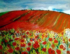'SOLD' HouseOnPoppyHill Oil Painting