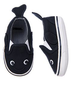 Baby Navy Whale Crib Sneaker by Gymboree. Cute style for his feet. Made from brushed cotton twill, our whale crib sneaker shoe features a comfy slip-on design with fin and flipper details. Little Boy Fashion, Baby Boy Fashion, Kids Fashion, Toddler Outfits, Baby Boy Outfits, Kids Outfits, Toddler Shoes, Baby Boy Shoes, Boys Shoes