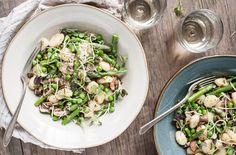 Spring Gnocchi with mushrooms and parmesan