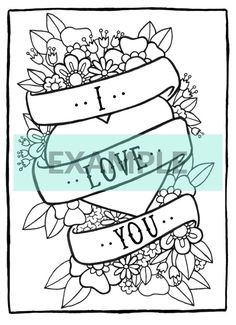 Cute Valentine's Day Printable Coloring by BrighterSidesDesign